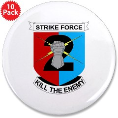"2ID2SBCT - M01 - 01 - DUI - 2nd Stryker Brigade Combat Team 3.5"" Button (10 pack)"