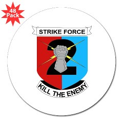 "2ID2SBCT - M01 - 01 - DUI - 2nd Stryker Brigade Combat Team 3"" Lapel Sticker (48 pk)"
