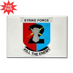 2ID2SBCT - M01 - 01 - DUI - 2nd Stryker Brigade Combat Team Rectangle Magnet (100 pack)