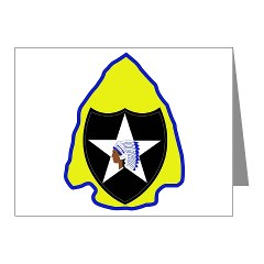 2ID3SBCT - M01 - 02 - DUI - 3rd Stryker Brigade Combat Team Note Cards (Pk of 20)