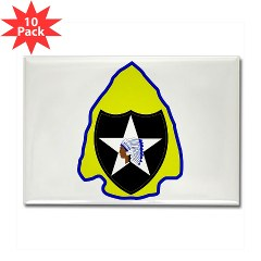 2ID3SBCT - M01 - 01 - DUI - 3rd Stryker Brigade Combat Team Rectangle Magnet (10 pack)