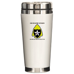 2ID3SBCT - M01 - 03 - DUI - 3rd Stryker Brigade Combat Team with Text Ceramic Travel Mug