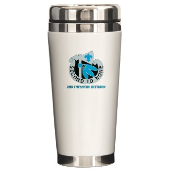 02ID - M01 - 03 - DUI - 2nd Infantry Division with text - Ceramic Travel Mug