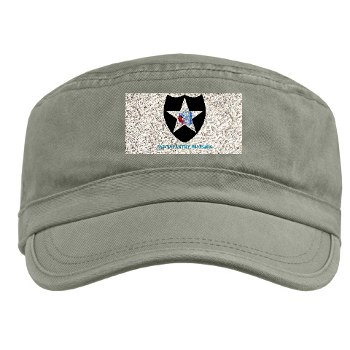 02ID - A01 - 01 - SSI - 2nd Infantry Division with text - Military Cap