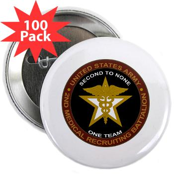 "2MRB - M01 - 01 - DUI - 2nd Medical Recruiting Battalion (Gladiators) - 2.25"" Button (100 pack)"
