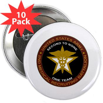 "2MRB - M01 - 01 - DUI - 2nd Medical Recruiting Battalion (Gladiators) - 2.25"" Button (10 pack)"