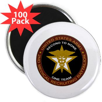 "2MRB - M01 - 01 - DUI - 2nd Medical Recruiting Battalion (Gladiators) - 2.25"" Magnet (100 pack)"