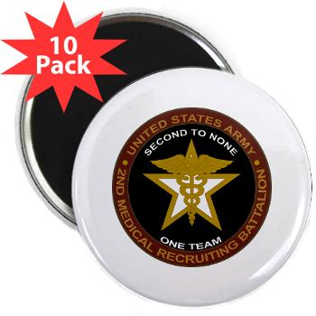"2MRB - M01 - 01 - DUI - 2nd Medical Recruiting Battalion (Gladiators) - 2.25"" Magnet (10 pack)"