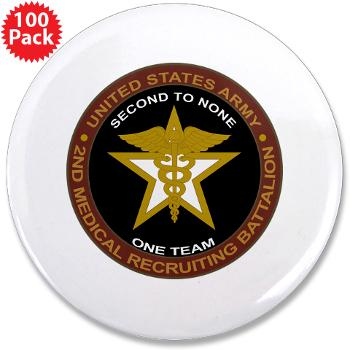 "2MRB - M01 - 01 - DUI - 2nd Medical Recruiting Battalion (Gladiators) - 3.5"" Button (10 pack)"