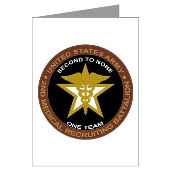 2MRB - M01 - 02 - DUI - 2nd Medical Recruiting Battalion (Gladiators) - Greeting Cards (Pk of 10)