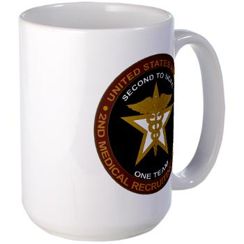 2MRB - M01 - 04 - DUI - 2nd Medical Recruiting Battalion (Gladiators) - Large Mug