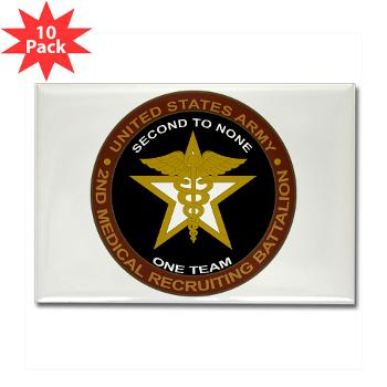 2MRB - M01 - 01 - DUI - 2nd Medical Recruiting Battalion (Gladiators) - Rectangle Magnet (10 pack)