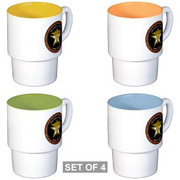 2MRB - M01 - 04 - DUI - 2nd Medical Recruiting Battalion (Gladiators) - Stackable Mug Set (4 mugs)