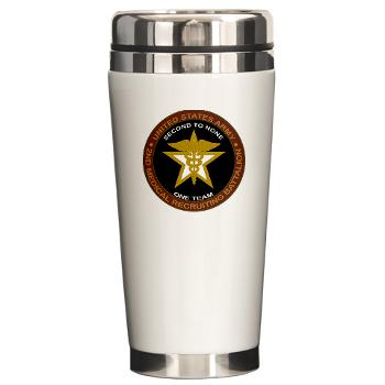 2MRB - M01 - 04 - DUI - 2nd Medical Recruiting Battalion (Gladiators) - Ceramic Travel Mug