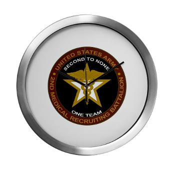 2MRB - M01 - 04 - DUI - 2nd Medical Recruiting Battalion (Gladiators) - Modern Wall Clock