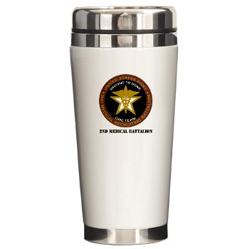 2MRB - M01 - 04 - DUI - 2nd Medical Recruiting Battalion (Gladiators) with Text - Ceramic Travel Mug