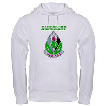 2POG - A01 - 03 - DUI - 2nd Psychological Operations Group with Text Hooded Sweatshirt