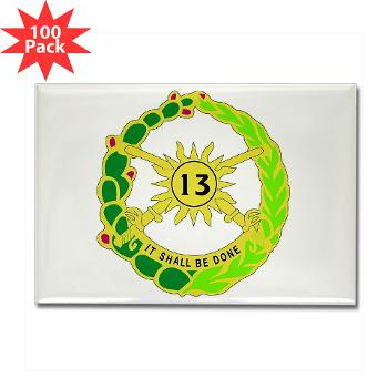 2S13CR - M01 - 01 - DUI - 2nd Squadron - 13th Cavalry Regiment - Rectangle Magnet (100 pack)