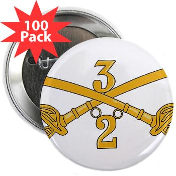 "2S3ACR - M01 - 01 - DUI - 2nd Sqdrn - 3rd ACR 2.25"" Button (100 pack)"