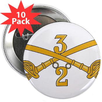 "2S3ACR - M01 - 01 - DUI - 2nd Sqdrn - 3rd ACR 2.25"" Button (10 pack)"