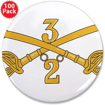 "2S3ACR - M01 - 01 - DUI - 2nd Sqdrn - 3rd ACR 3.5"" Button (100 pack)"
