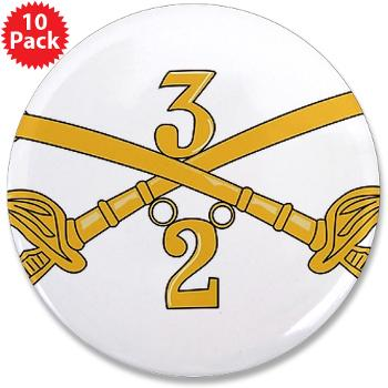 "2S3ACR - M01 - 01 - DUI - 2nd Sqdrn - 3rd ACR 3.5"" Button (10 pack)"