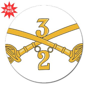 "2S3ACR - M01 - 01 - DUI - 2nd Sqdrn - 3rd ACR 3"" Lapel Sticker (48 pk)"