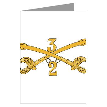 2S3ACR - M01 - 02 - DUI - 2nd Sqdrn - 3rd ACR Greeting Cards (Pk of 20)