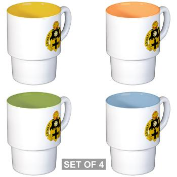 2S5CR - M01 - 03 - DUI - 2nd Squadron - 5th Cavalry Regiment - Stackable Mug Set (4 mugs)