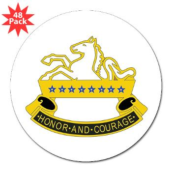 "2S8CR - M01 - 01 - DUI - 2nd Squadron - 8th Cavalry Regiment - 3"" Lapel Sticker (48 pk)"