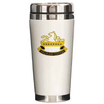 2S8CR - M01 - 03 - DUI - 2nd Squadron - 8th Cavalry Regiment - Ceramic Travel Mug