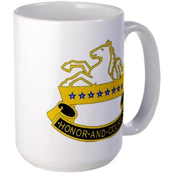 2S8CR - M01 - 03 - DUI - 2nd Squadron - 8th Cavalry Regiment - Large Mug