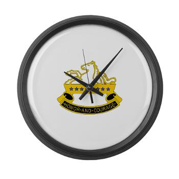 2S8CR - M01 - 03 - DUI - 2nd Squadron - 8th Cavalry Regiment - Large Wall Clock