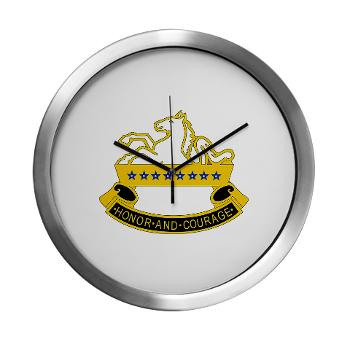 2S8CR - M01 - 03 - DUI - 2nd Squadron - 8th Cavalry Regiment - Modern Wall Clock