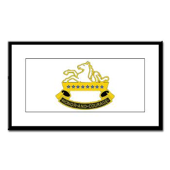 2S8CR - M01 - 02 - DUI - 2nd Squadron - 8th Cavalry Regiment - Small Framed Print