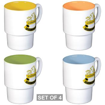 2S8CR - M01 - 03 - DUI - 2nd Squadron - 8th Cavalry Regiment - Stackable Mug Set (4 mugs)