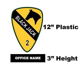 "1st Cav 2BCT ""Blackjack"" - Signage Item 4"