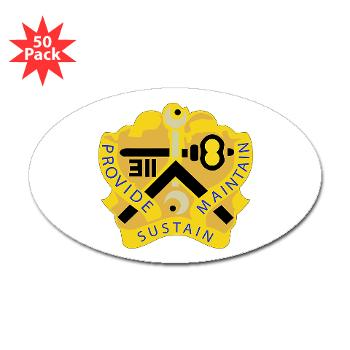 311SC - A01 - 01 - DUI - 311th Sustainment Command - Sticker (Oval 50 pk)