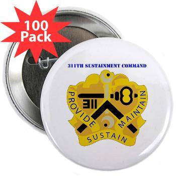 "311SC - A01 - 01 - DUI - 311th Sustainment Command with Text - 2.25"" Button (100 pack)"