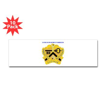 311SC - A01 - 01 - DUI - 311th Sustainment Command with Text - Sticker (Bumper 10 pk)
