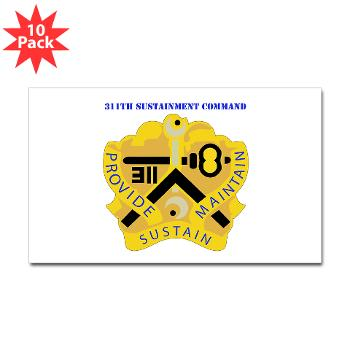 311SC - A01 - 01 - DUI - 311th Sustainment Command with Text - Sticker (Rectangle 10 pk)