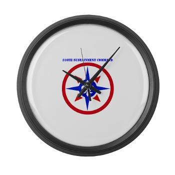 316SC - M01 - 03 - SSI - 316th Sustainment Command with Text - Large Wall Clock
