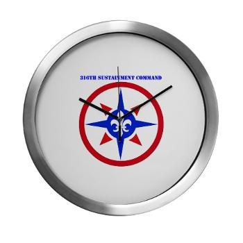 316SC - M01 - 03 - SSI - 316th Sustainment Command with Text - Modern Wall Clock