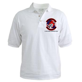 32AR - A01 - 04 - DUI - 3-2nd Aviation Regt (GSAB) with Text - Golf Shirt