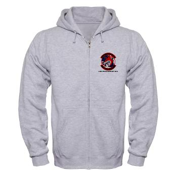 32AR - A01 - 03 - DUI - 3-2nd Aviation Regt (GSAB) with Text - Zip Hoodie