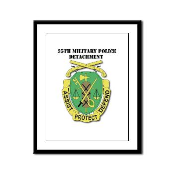 35MPD - M01 - 02 - DUI - 35th Military Police Detachment with text - Framed Panel Print