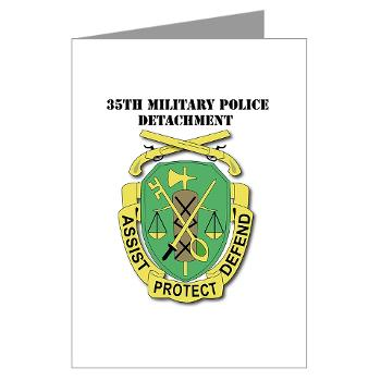 35MPD - M01 - 02 - DUI - 35th Military Police Detachment with text - Greeting Cards (Pk of 20)