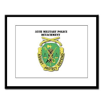35MPD - M01 - 02 - DUI - 35th Military Police Detachment with text - Large Framed Print