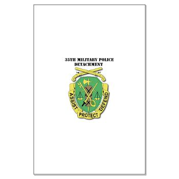 35MPD - M01 - 02 - DUI - 35th Military Police Detachment with text - Large Poster