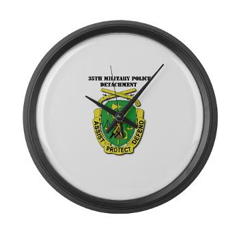 35MPD - M01 - 03 - DUI - 35th Military Police Detachment with text - Large Wall Clock